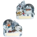Schneekugel Wintermotiv 4,5cm 80 sort.