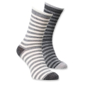 Alpaka Socken C Gr. 31-34 gestreift sort.